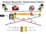 position based qc teleportation attack
