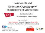 position based quantum cryptography impossibility and constructions