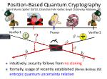 position based quantum cryptography
