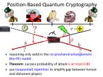 position based quantum cryptography1