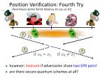 position verification fourth try