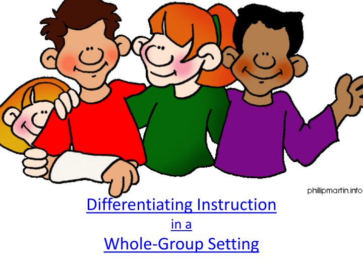 differentiating instruction in a whole group setting n.