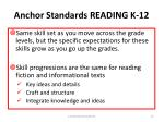 anchor standards reading k 12
