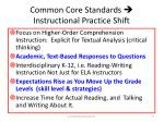 common core standards instructional practice shift