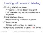 dealing with errors in labeling