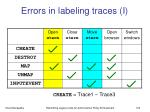 errors in labeling traces i1
