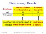static mining results2