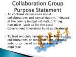 collaboration group purpose statement