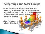 subgroups and work groups