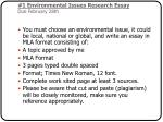 1 environmental issues research essay due february 28th