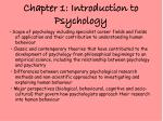chapter 1 introduction to psychology