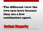 retinal disparity