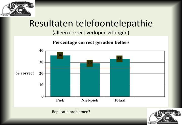 Resultaten telefoontelepathie