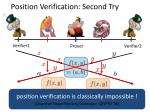 position verification second try