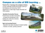 campus as a site of efs learning