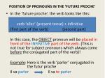 position of pronouns in the future proche