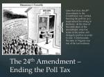 the 24 th amendment ending the poll tax