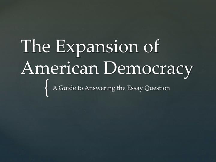 the expansion of american democracy n.