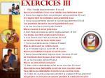 exercices iii