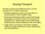 varying transport