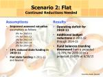 scenario 2 flat continued reductions needed