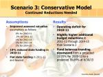 scenario 3 conservative model continued reductions needed