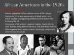 african americans in the 1920s1