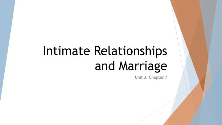 intimate relationships and marriage n.