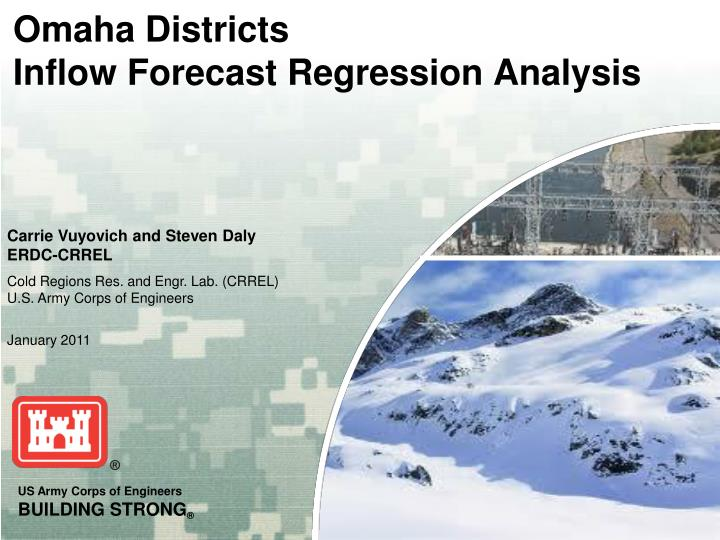 omaha districts inflow forecast regression analysis n.
