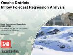 omaha districts inflow forecast regression analysis