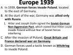 europe 1939