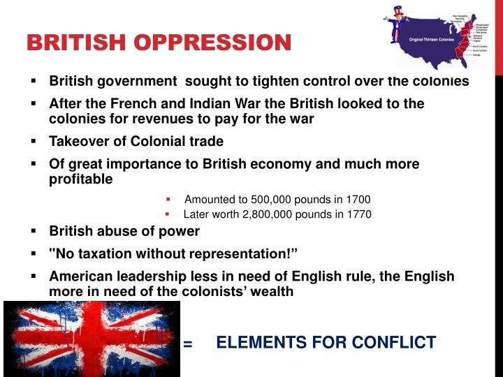 British Oppression