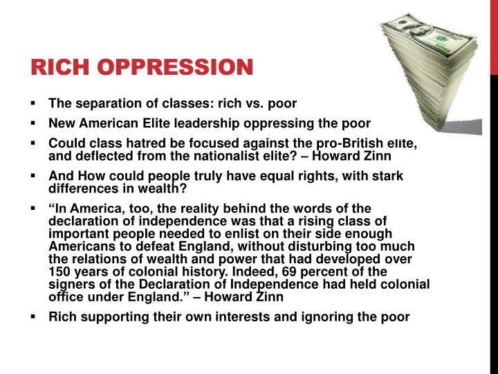 Rich Oppression