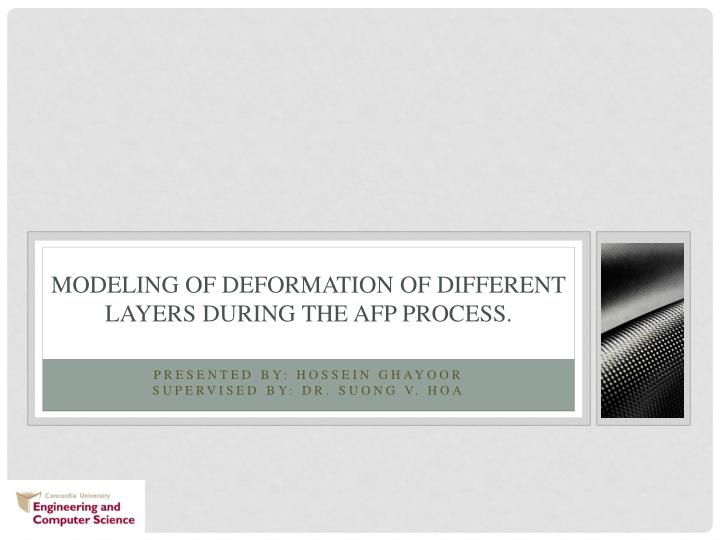 modeling of deformation of different layers during the afp process n.