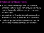 evidence for black holes1