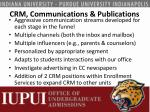 crm communications publications
