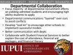 departmental collaboration