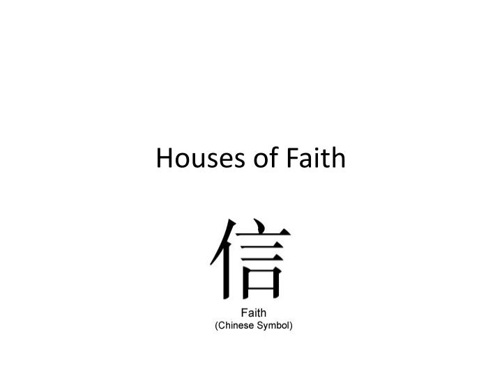 houses of faith n.
