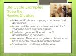 life cycle examples guess the housing situation