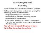 introduce your self in writing