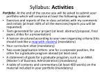 syllabus activities1