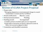 review of icura project proposal