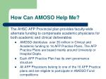 how can amoso help me