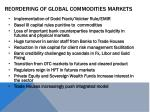 reordering of global commodities markets