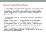 open ended questions1
