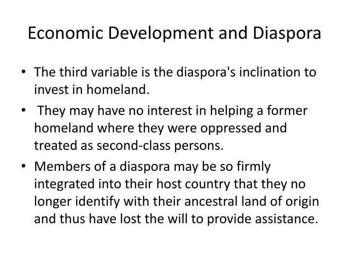 Economic Development and Diaspora