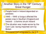 another story in the 19 th century great hunger