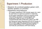 experiment 1 production1