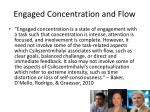 engaged concentration and flow