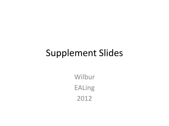 supplement slides n.